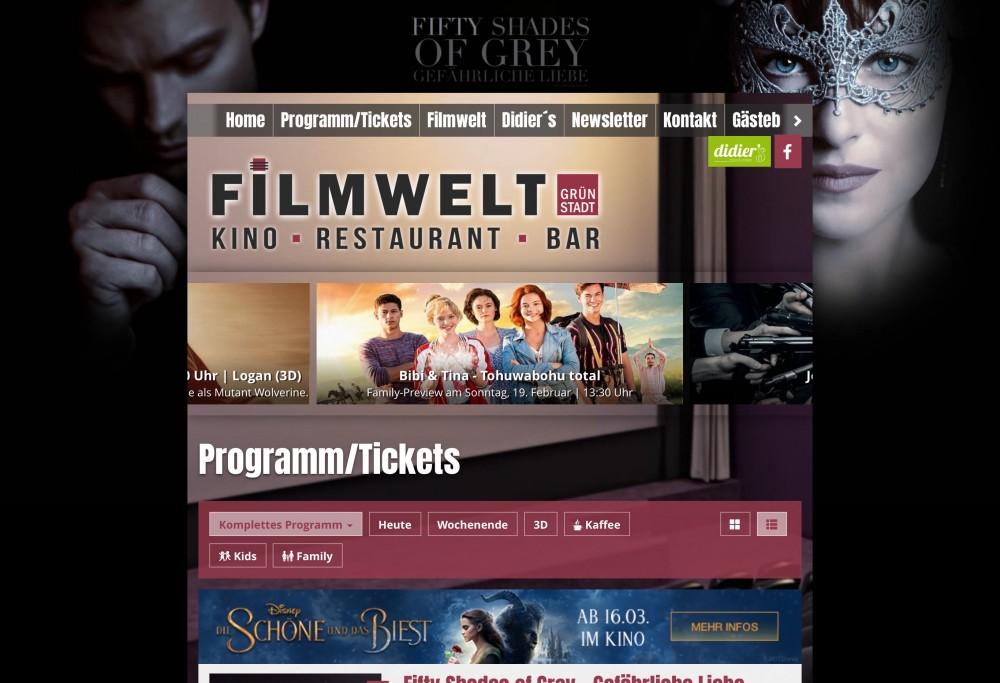 Filmwelt in Grünstadt erstes Kino mit website.plus 2.0