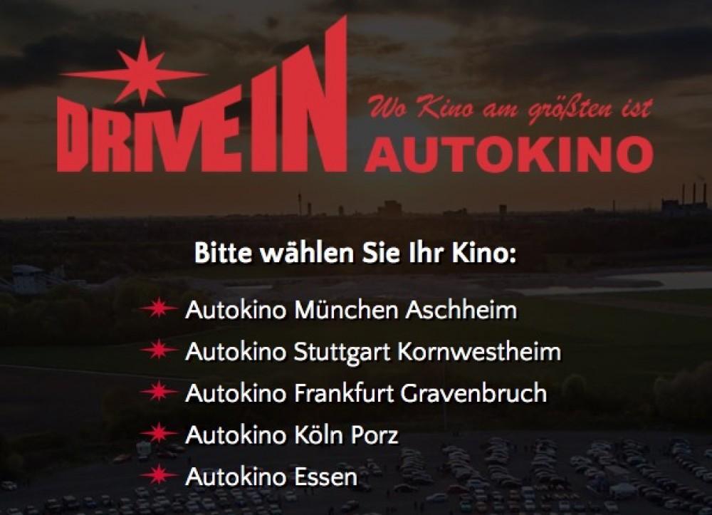 Die Drive-In Autokinos sind jetzt ebenfalls mit den modernsten Kinowebseiten online!